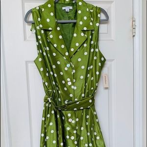 Dress Barn Sleeveless /Belt Dress NWT